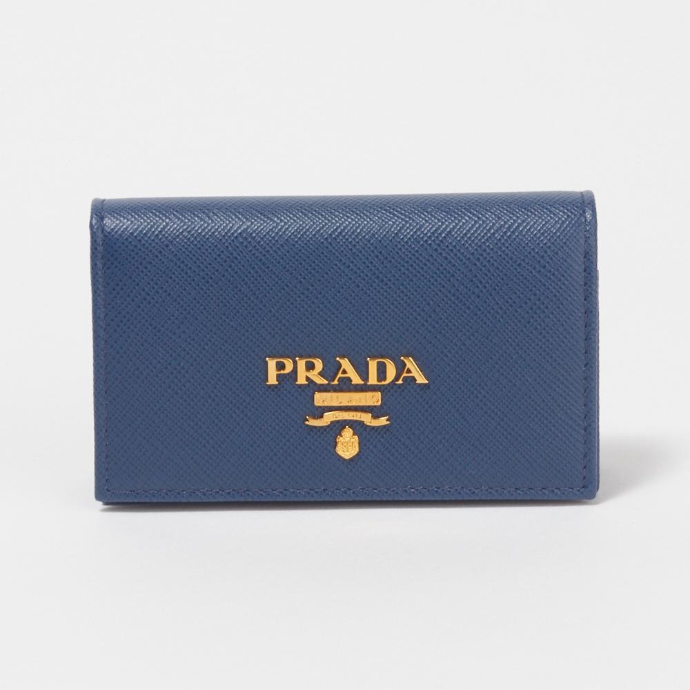 プラダ PRADA カードケース 【サフィアーノメタル:SAFFIANO METAL】 1MC122 QWA ブルー系(F0016/BLUETTE) 【skl】【skm】