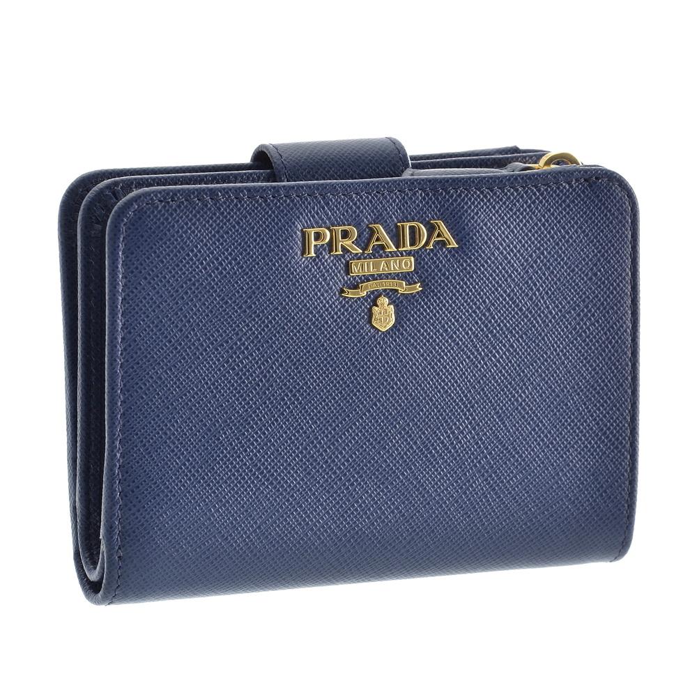 プラダ PRADA 折財布 1ML018 QWA F0016 ブルー系(BLUETTE) 【skl】【kne】