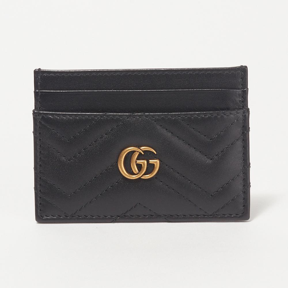 グッチ GUCCI カードケース 【GGマーモント:GG MARMONT】 443127 DRW1T ブラック(1000) 【skl】【skm】