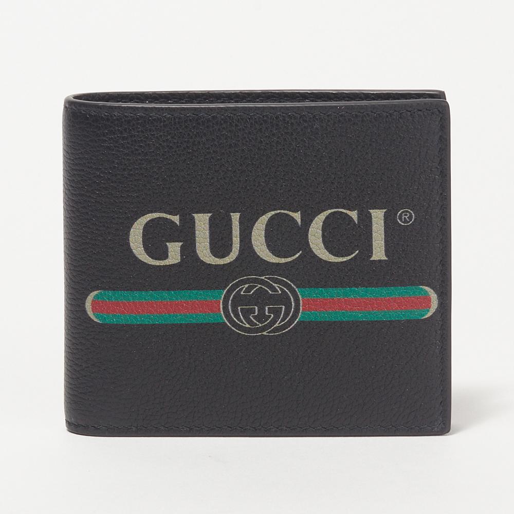 グッチ GUCCI 折財布 【GUCCI PRINT】 496316 0GCAT ブラック(8163) 【skm】
