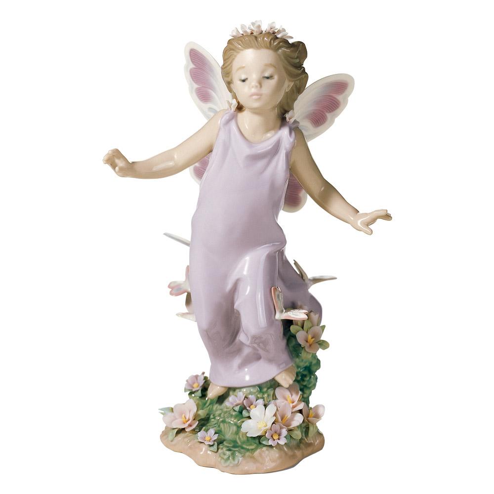 リヤドロ LLADRO 置物 フィギュアオーナメント 蝶の妖精 6875 【お取り寄せ】