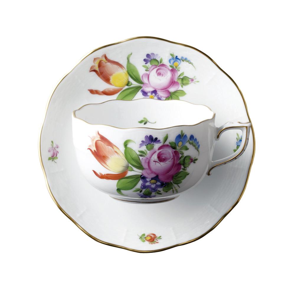 ヘレンド HEREND 洋食器 ティーカップ&ソーサー チューリップの花束 BT-2 #724 【お取り寄せ】