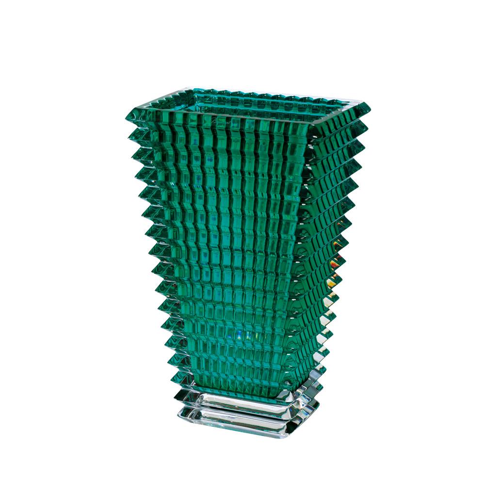 【ご予約会対象品】 バカラ BACCARAT 花瓶 ベース アイ スクエア 30cm グリーン 2802-307 【お取り寄せ】