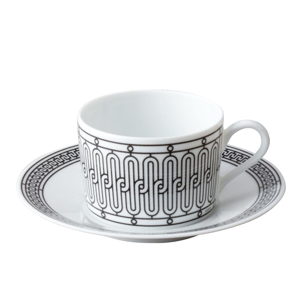 エルメス ティーカップ&ソーサー HERMES Hデコ (37016) 【お取り寄せ】