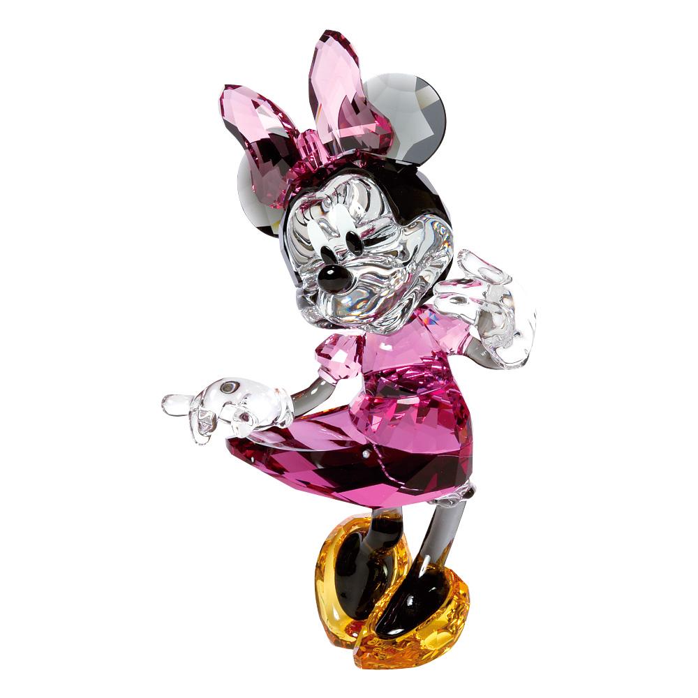 スワロフスキー SWAROVSKI 置物 フィギュアオーナメント ミニーマウス (ミッキーマウスと仲間たち) 5135-891 【お取り寄せ】