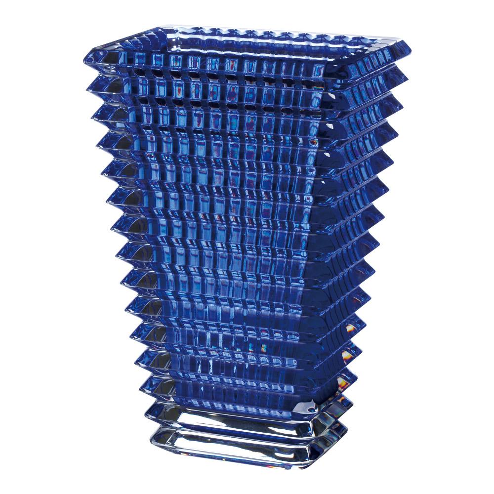 【ご予約会対象品】 バカラ BACCARAT ベース 花瓶 アイ スクウェア ブルー 20cm 2811-104 【お取り寄せ】