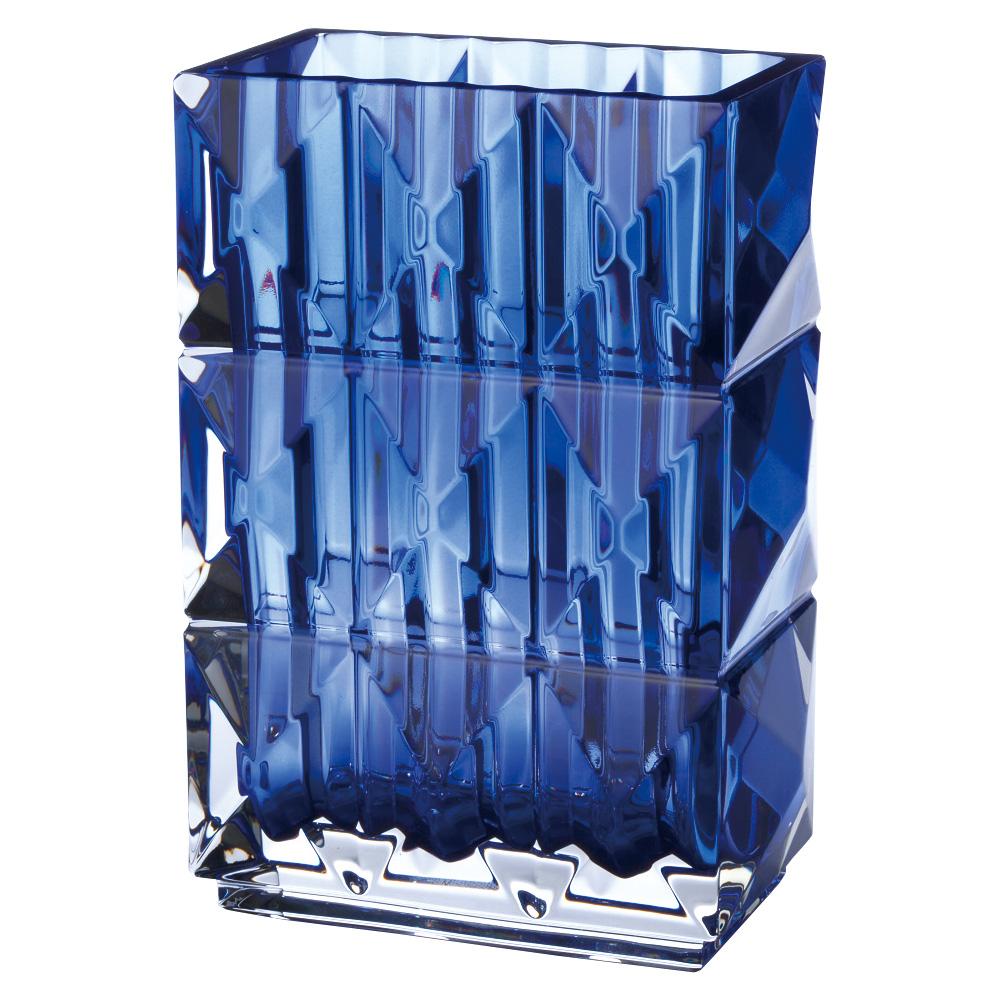 【ご予約会対象品】 バカラ BACCARAT ベース 花瓶 ルクソール ブルー 20cm 2811-094 【お取り寄せ】