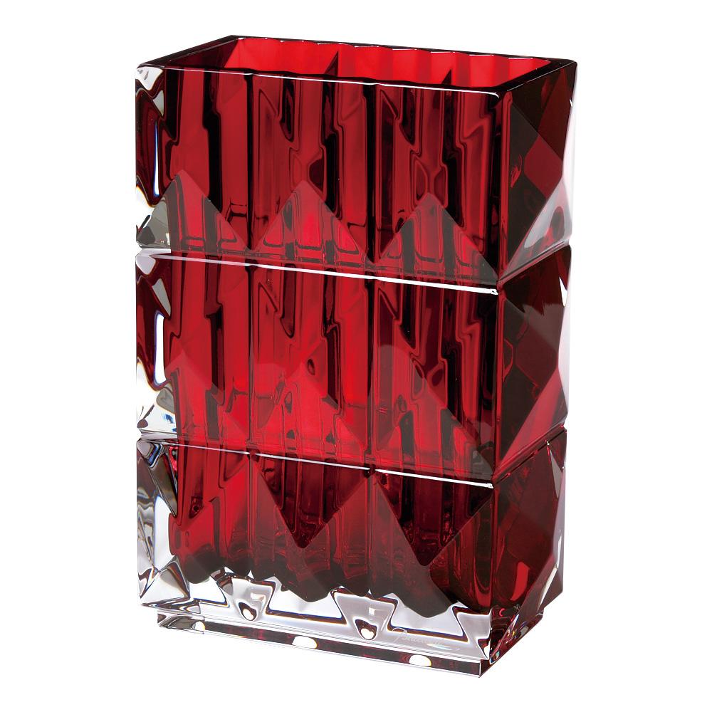 【ご予約会対象品】 バカラ BACCARAT ベース 花瓶 ルクソール レッド 20cm 2808-408 【お取り寄せ】