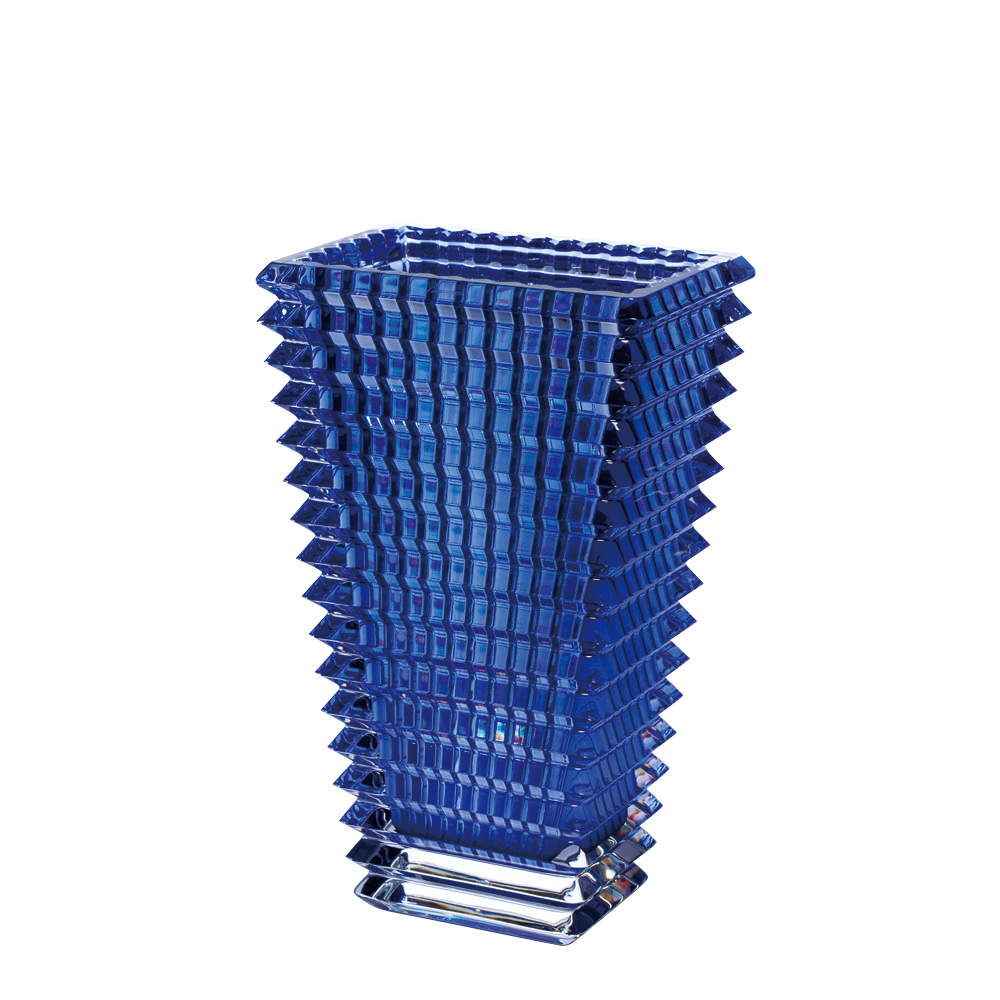 【ご予約会対象品】 バカラ BACCARAT 花瓶 ベース アイ スクエア 30cm ブルー 2811-106 【お取り寄せ】