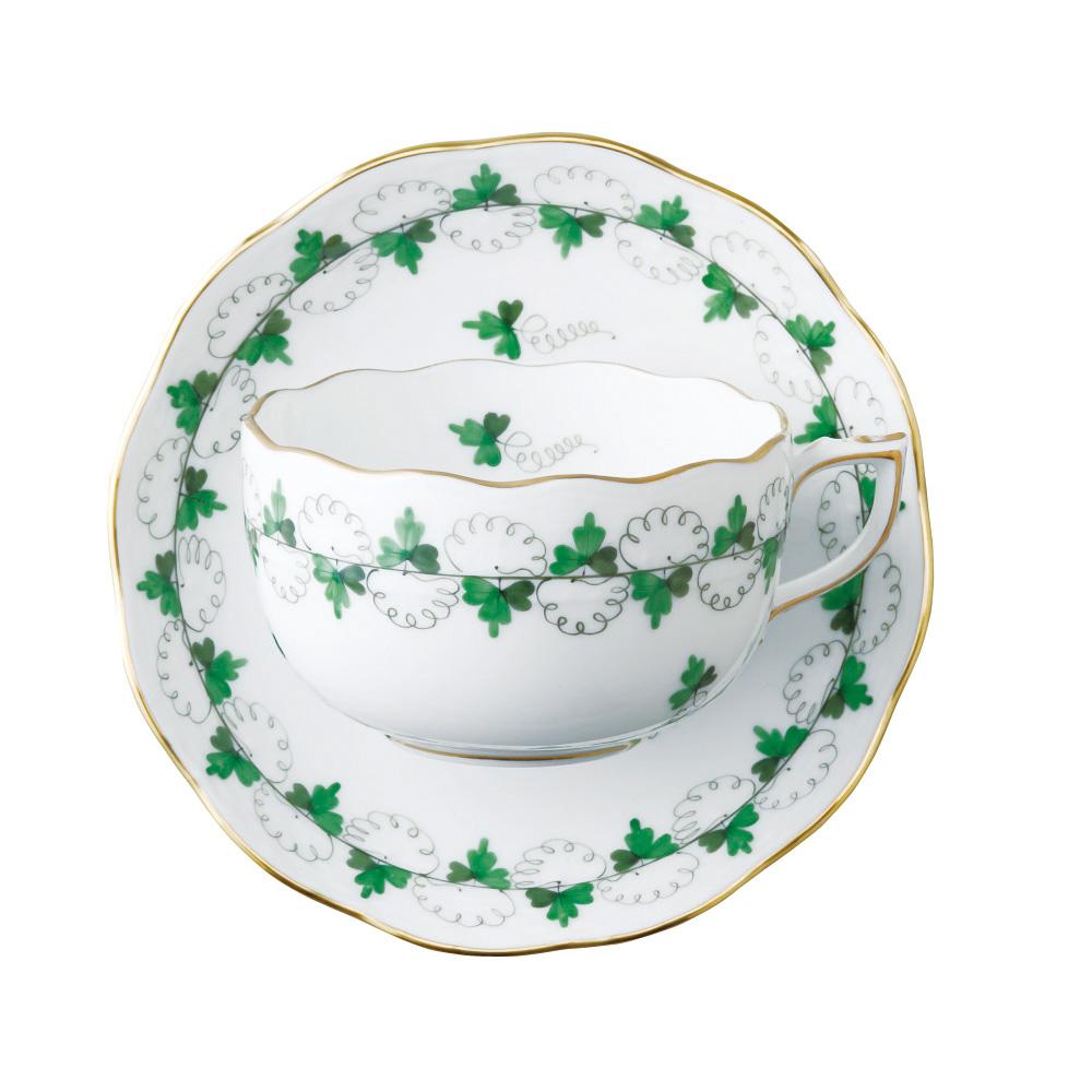 ヘレンド HEREND 洋食器 ティーカップ&ソーサー パセリ PE #724 【お取り寄せ】