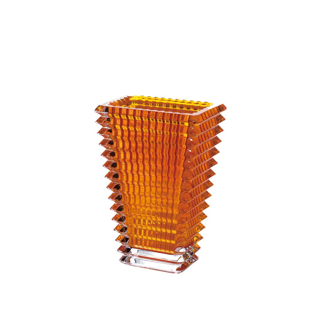 【ご予約会対象品】 バカラ BACCARAT 花瓶 ベース アイ スクエア 20cm アンバー 2811-216 【お取り寄せ】
