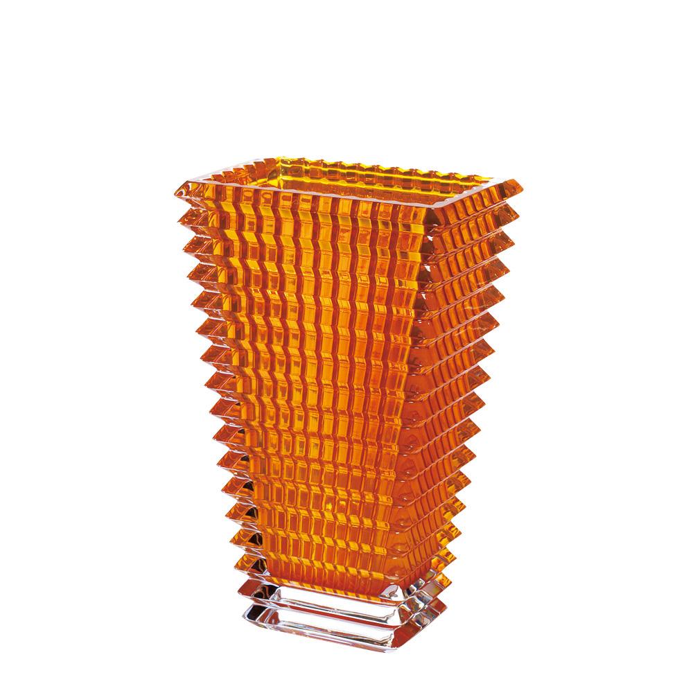 【ご予約会対象品】 バカラ BACCARAT 花瓶 ベース アイ スクエア 30cm アンバー 2812-153 【お取り寄せ】