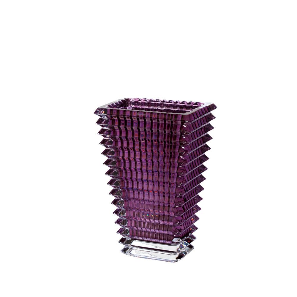【ご予約会対象品】 バカラ BACCARAT 花瓶 ベース アイ スクエア 30cm アメジスト 2802-308 【お取り寄せ】