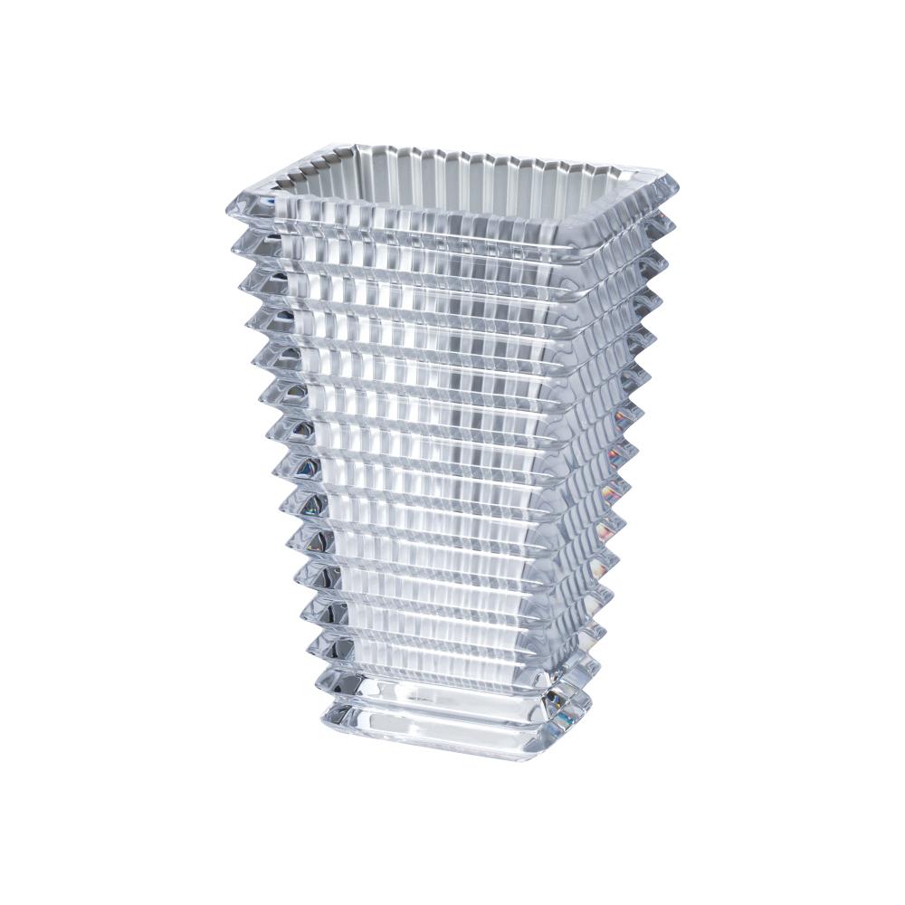 【ご予約会対象品】 バカラ BACCARAT 花瓶 ベース アイベース スクウェア 2812-810 シルバー 20cm 【お取り寄せ】