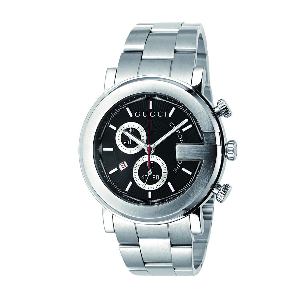 グッチ GUCCI 腕時計 メンズ 時計 【Gクロノ】 YA101309 ブラック 【wcm】
