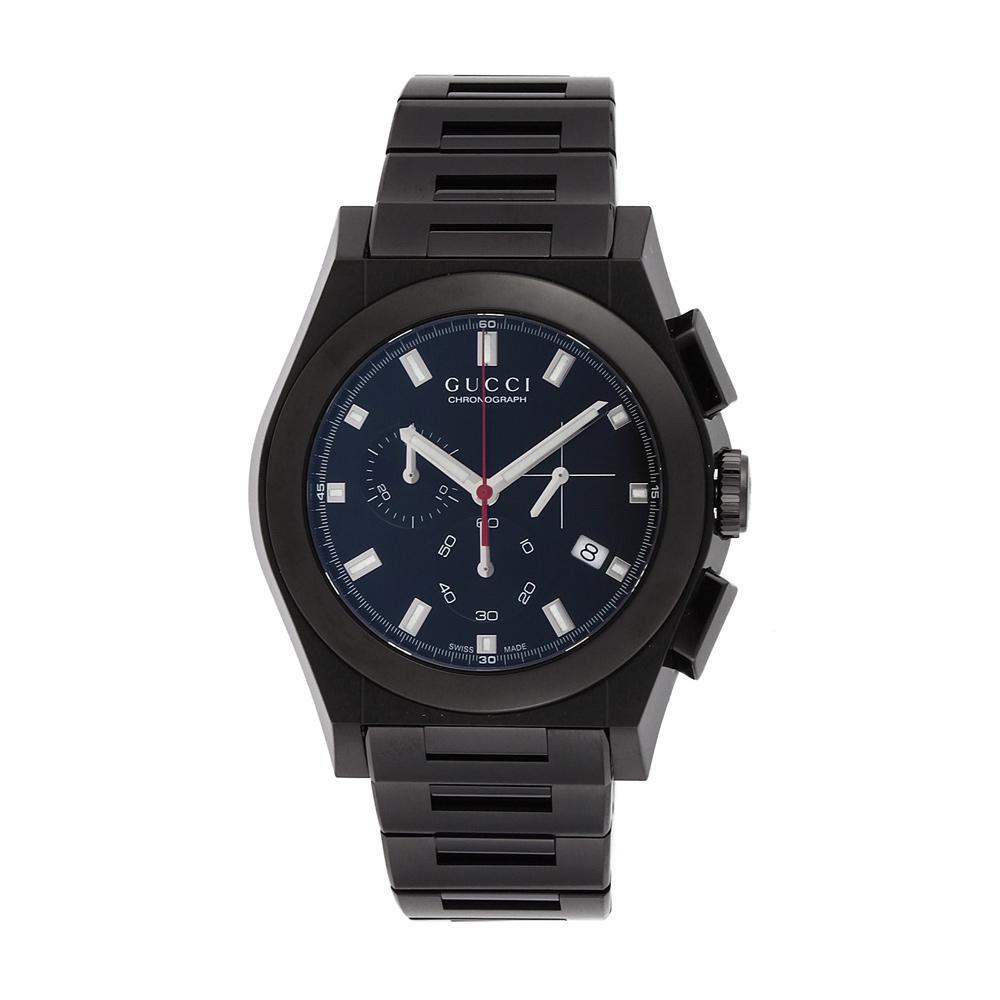 グッチ GUCCI 腕時計 メンズ 時計 【パンテオン】 YA115237 ブラック 【wcm】