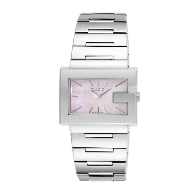 グッチ GUCCI 腕時計 レディース 時計 【Gレクタングル】 YA100518 シルバー/ピンクシェル 【glw】
