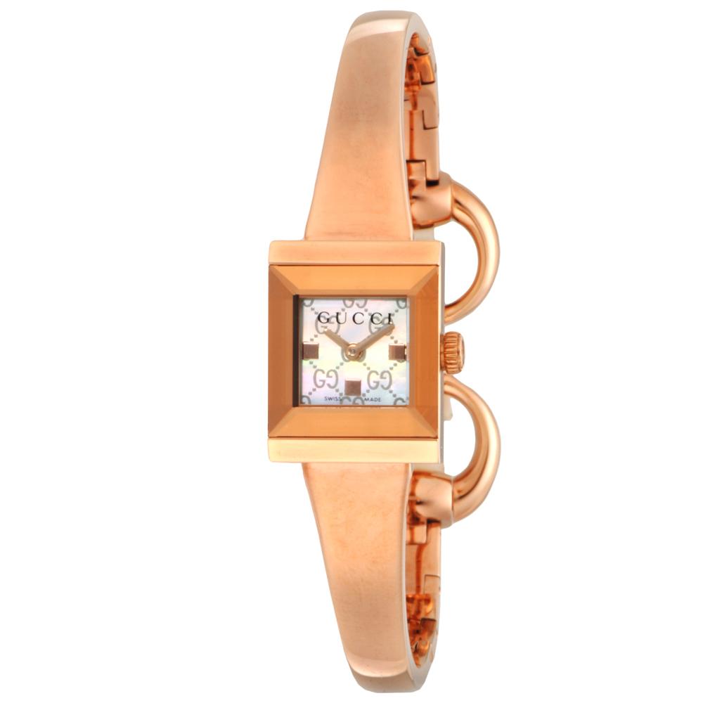 グッチ GUCCI 腕時計 レディース 時計 【Gフレーム】 YA128517 ホワイトシェル