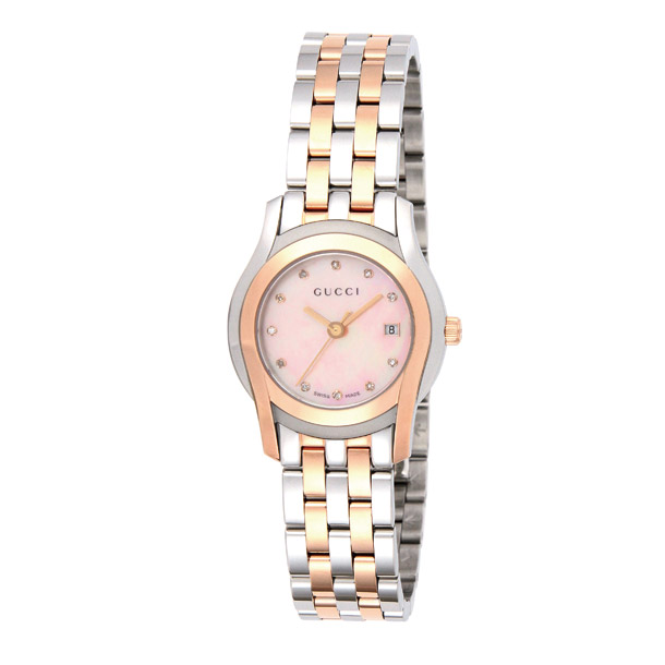 グッチ GUCCI 腕時計 レディース 時計 グッチ 【Gクラス】 YA055536 シルバー×ピンクゴールド/ピンクシェル