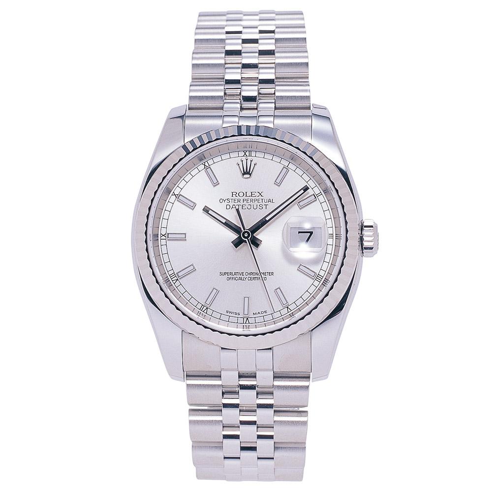 ロレックス ROLEX 腕時計 メンズウォッチ オイスター パーペチュアル デイトジャスト シルバー 116234 【お取り寄せ】