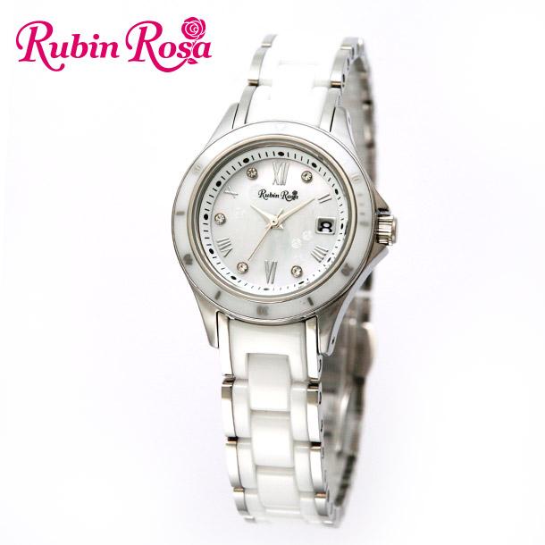 ルビンローザ 腕時計 レディース RUBIN ROSA R306SWHMOP