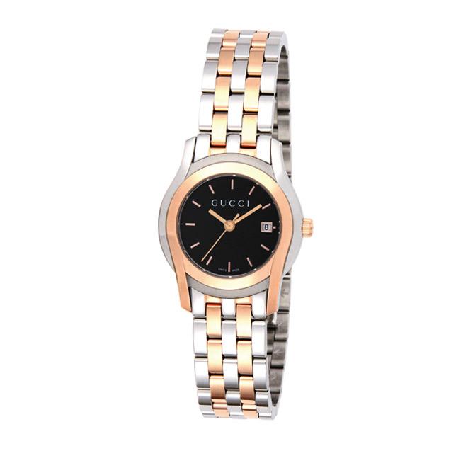 グッチ GUCCI 腕時計 レディース 時計 【Gクラス】 YA055537 シルバー×ピンクゴールド/ブラック 【glw】