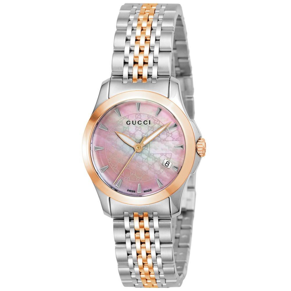 グッチ GUCCI 腕時計 レディースウォッチ YA126536 【Gタイムレス】 ピンクパール 【wcl】