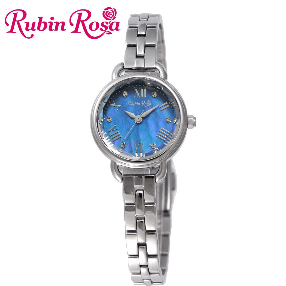 ルビンローザ RUBIN ROSA 時計 腕時計(レディース) R019SOLSBL ブルー