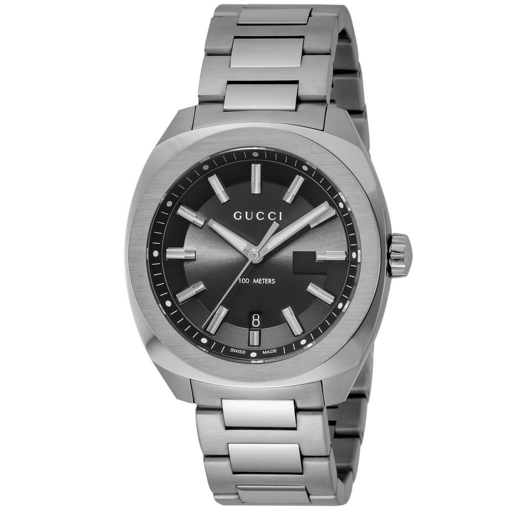グッチ GUCCI 腕時計 メンズウォッチ ブラック YA142301 【wcm】