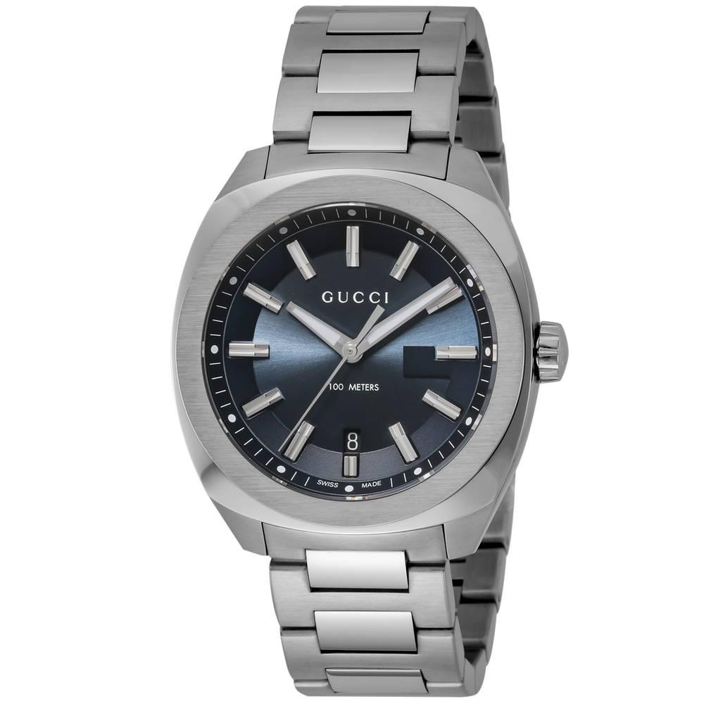 グッチ GUCCI 腕時計 メンズウォッチ ブルー YA142303 【wcm】