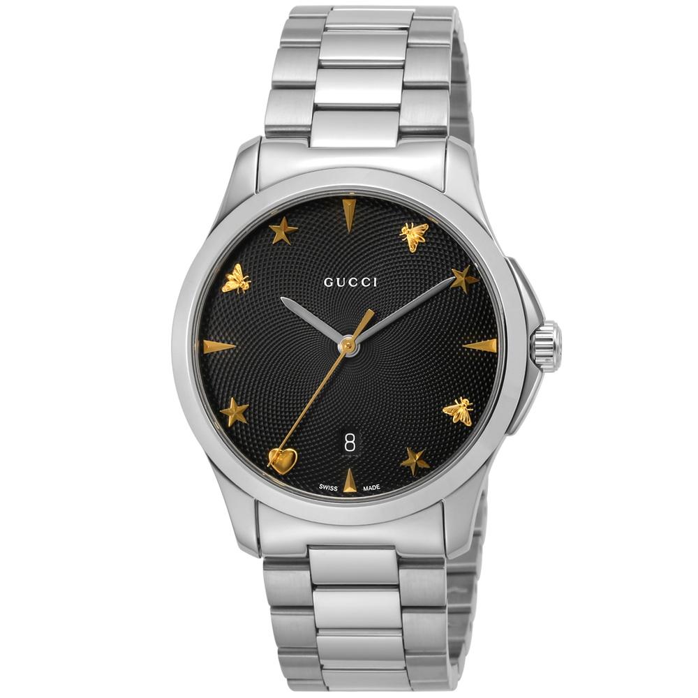 グッチ GUCCI 腕時計 ユニセックス 【Gタイムレス】 YA1264029 ブラック