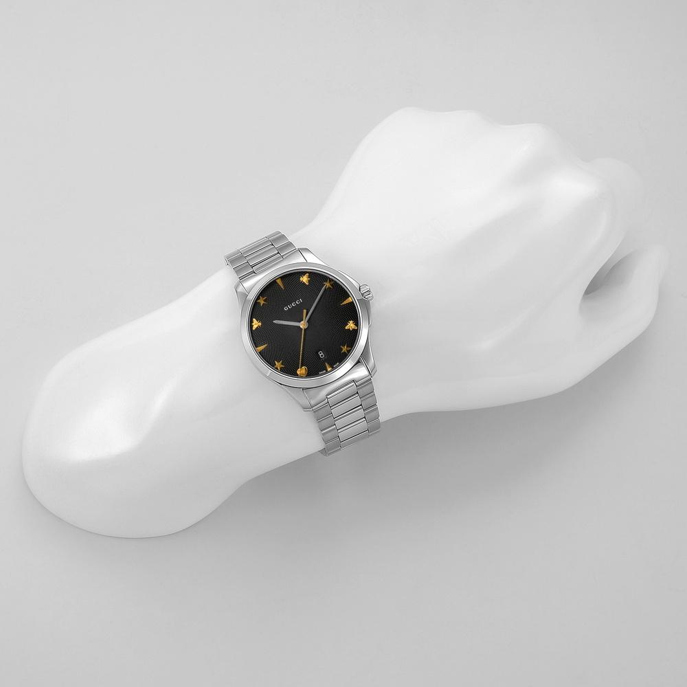 グッチ GUCCI 腕時計 ユニセックス 【Gタイムレス】 YA1264029 ブラック 【gmw】【glw】