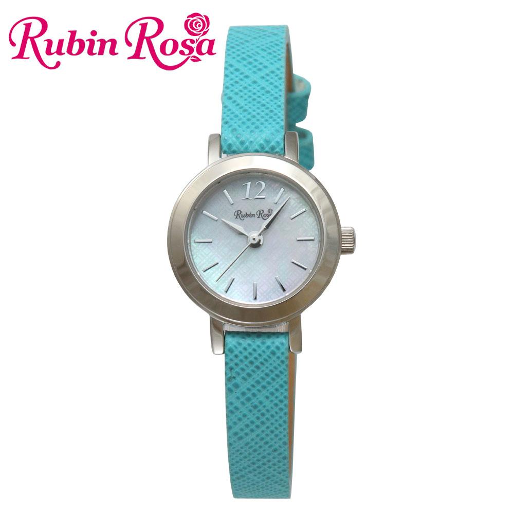 ルビンローザ RUBIN ROSA 時計 腕時計(レディース) R602SOLSLB ホワイトシェル