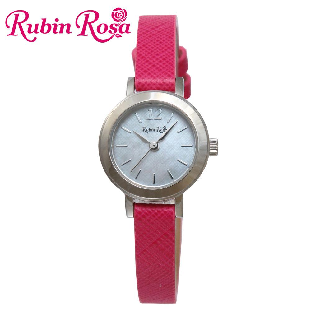 ルビンローザ RUBIN ROSA 時計 腕時計(レディース) R602SOLSPK ホワイトシェル