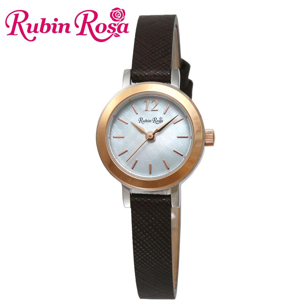 ルビンローザ RUBIN ROSA 時計 腕時計(レディース) R602SOLTBR ホワイトシェル