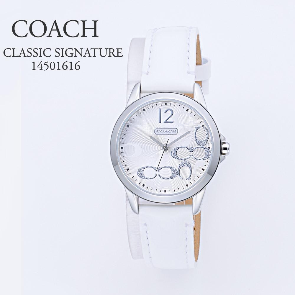 コーチ COACH 腕時計 レディースウォッチ 【CLASSIC SIGNATURE】 14501616 ホワイト