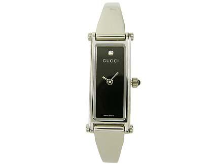 グッチ GUCCI 腕時計 レディースウォッチ YA015555SS 1Pダイヤ ブラック 【お取り寄せ】【wcl】 【お取り寄せ】【wcl】