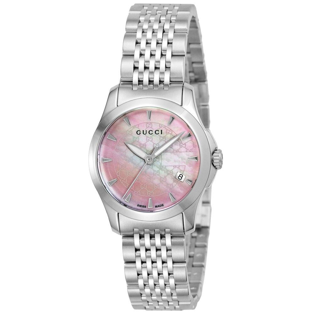 グッチ GUCCI 腕時計 レディースウォッチ Gタイムレス YA126532 ピンクシェル×シルバー 【お取り寄せ】【wcl】 【お取り寄せ】【wcl】
