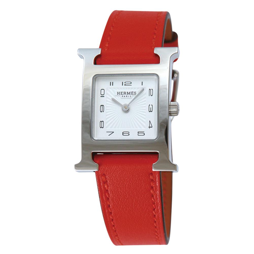 エルメス HERMES 腕時計 レディースウォッチ Hウォッチ HH1.110.131 WW9T ホワイト文字盤 ミニサイズ 【お取り寄せ】【wcl】 【お取り寄せ】【wcl】