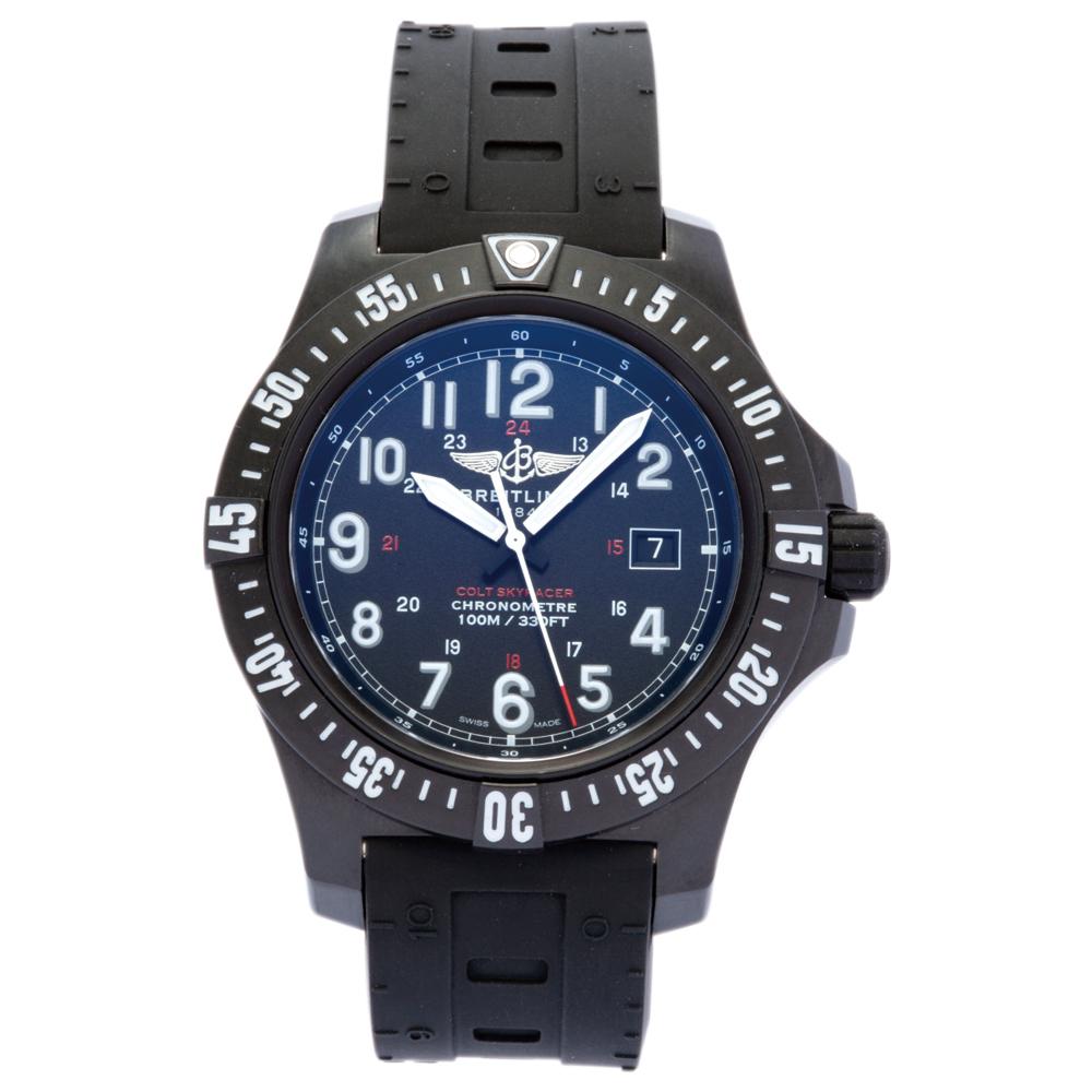 ブライトリング BREITLING 腕時計 メンズウォッチ 【コルト スカイレーサー】 X74320E4.BF87 ブラック 【お取り寄せ】【wcm】 【お取り寄せ】【wcm】