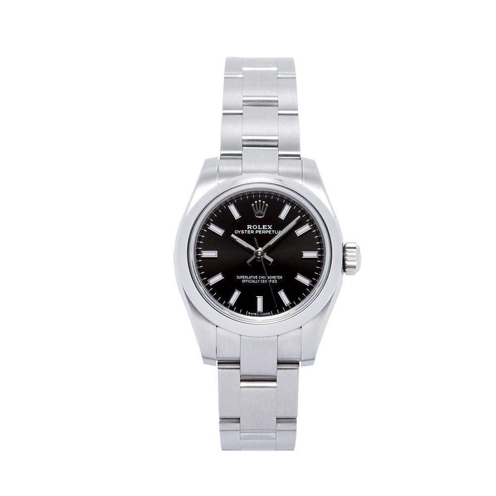ロレックス ROLEX 腕時計 レディースウォッチ オイスターパーペチュアル 176200 ブラック文字盤 26mm 【お取り寄せ】【wcl】 【お取り寄せ】【wcl】