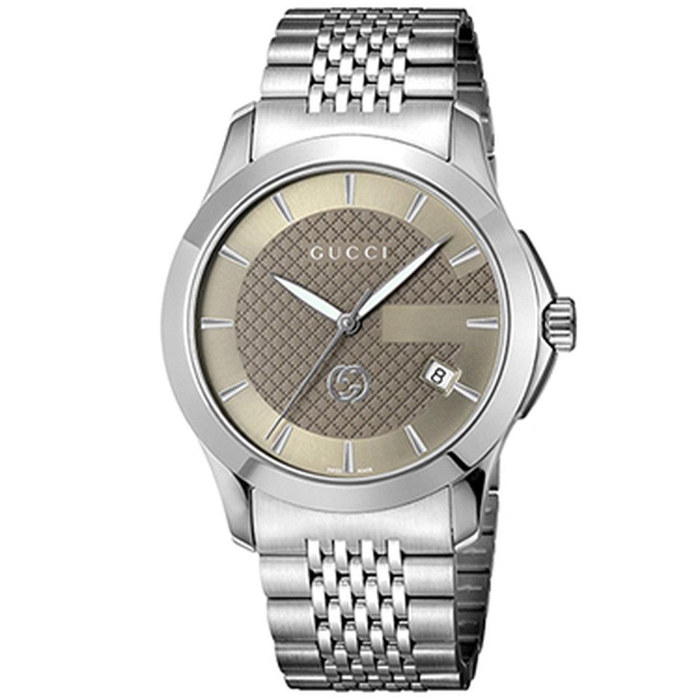 グッチ GUCCI 腕時計 メンズウォッチ Gタイムレス YA1264107 ブラウン×シルバー 【お取り寄せ】【wcm】 【お取り寄せ】【wcm】