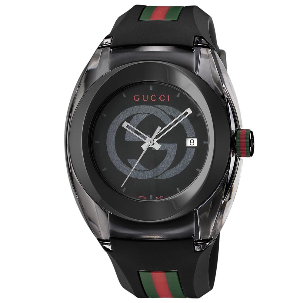 グッチ 腕時計 メンズウォッチ 【SYNC】 YA137107A BLACK/BLACK GUCCI 【お取り寄せ】【wcm】