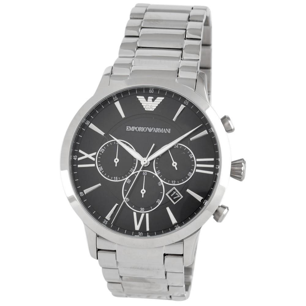 エンポリオアルマーニ 腕時計 メンズウォッチ AR11208 BLACK/SILVER EMPORIO ARMANI 【wcm】