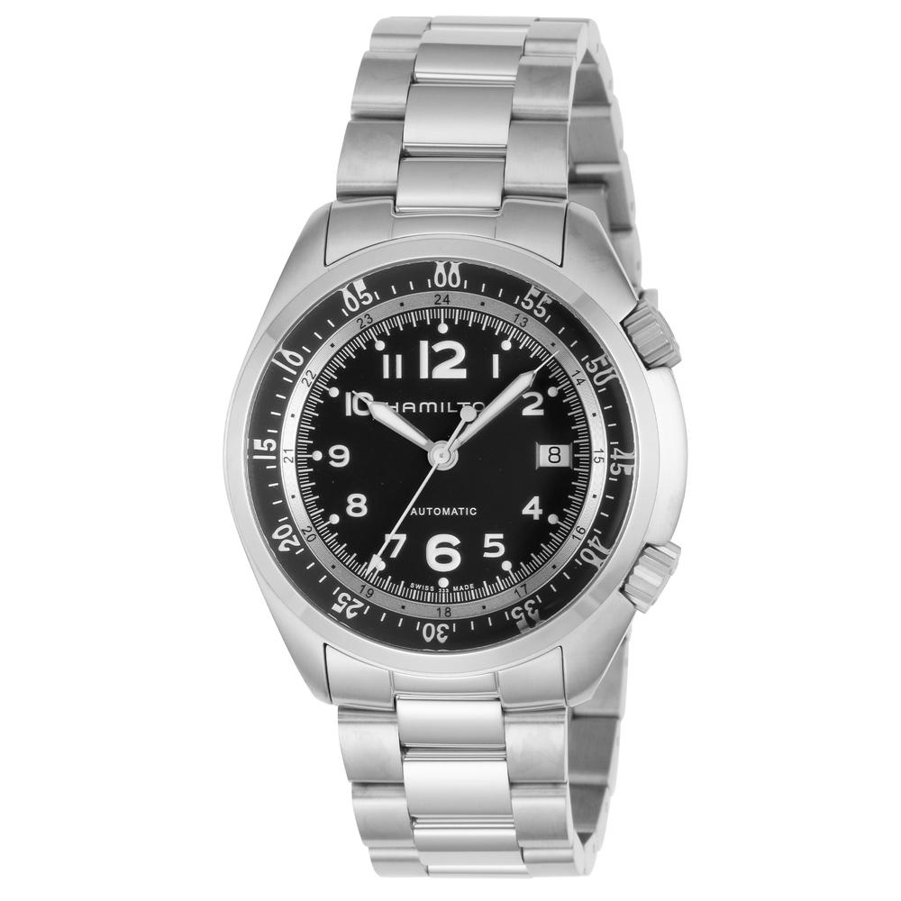 ハミルトン 腕時計 メンズウォッチ 【KHAKI AVIATION】 H76455133 ブラック HAMILTON 【wcm】