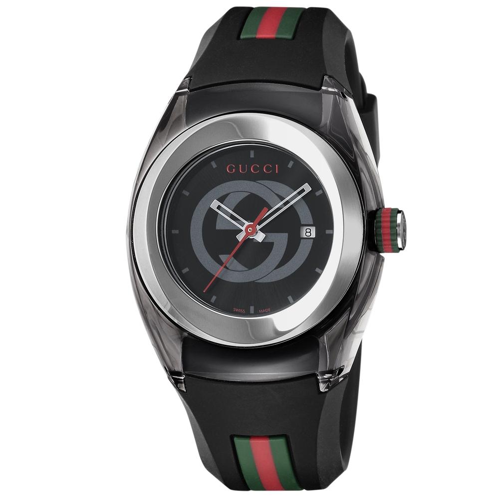 グッチ 腕時計 レディースウォッチ 【SYNC】 YA137301 BLACK/BLACK GUCCI 【お取り寄せ】
