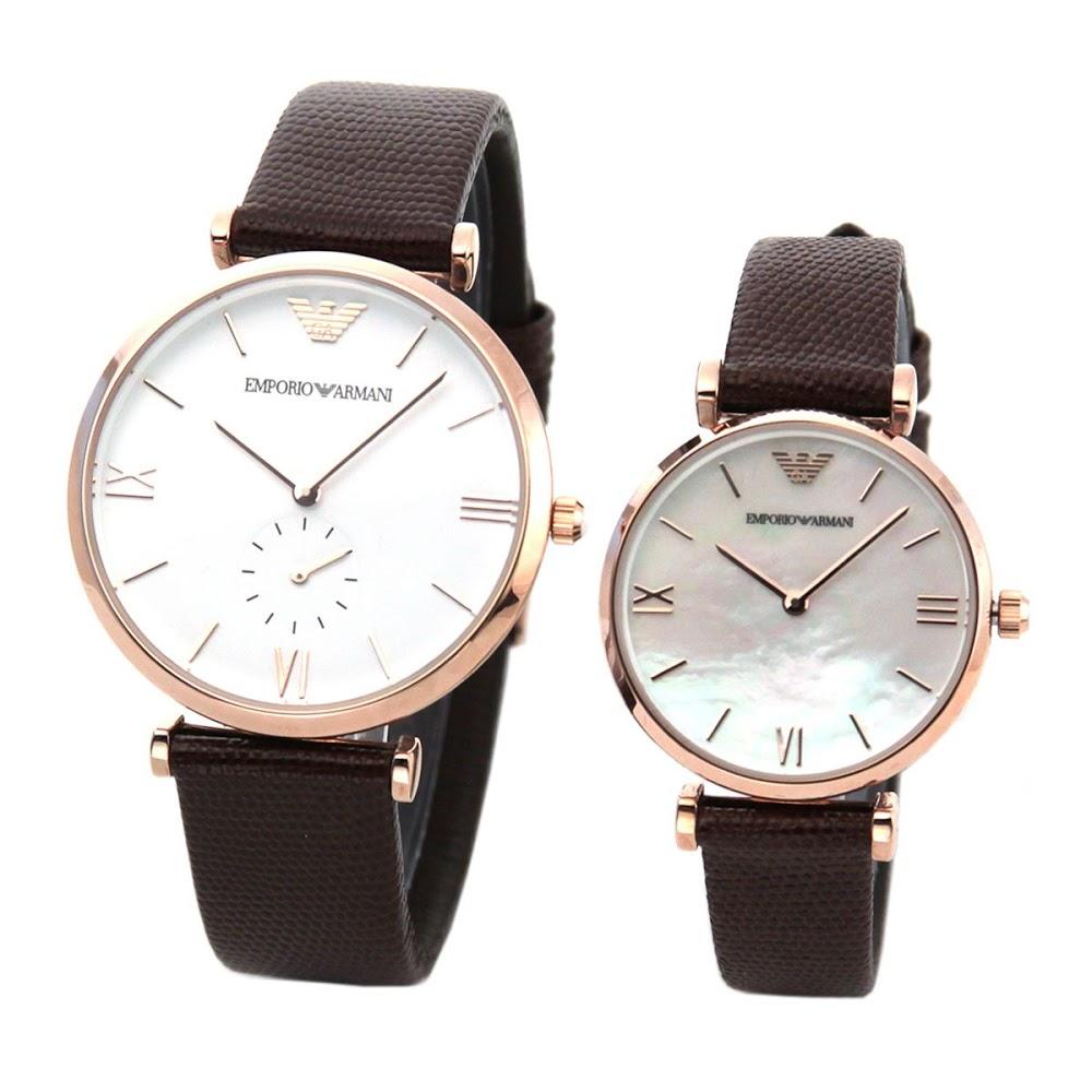 エンポリオアルマーニ 腕時計 ペアウォッチ AR9042 WHITE/BROWN EMPORIO ARMANI 【wcl】【wcm】