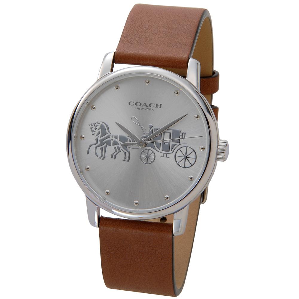 コーチ 腕時計 レディースウォッチ GRAND 14503495 SILVER/BROWN COACH