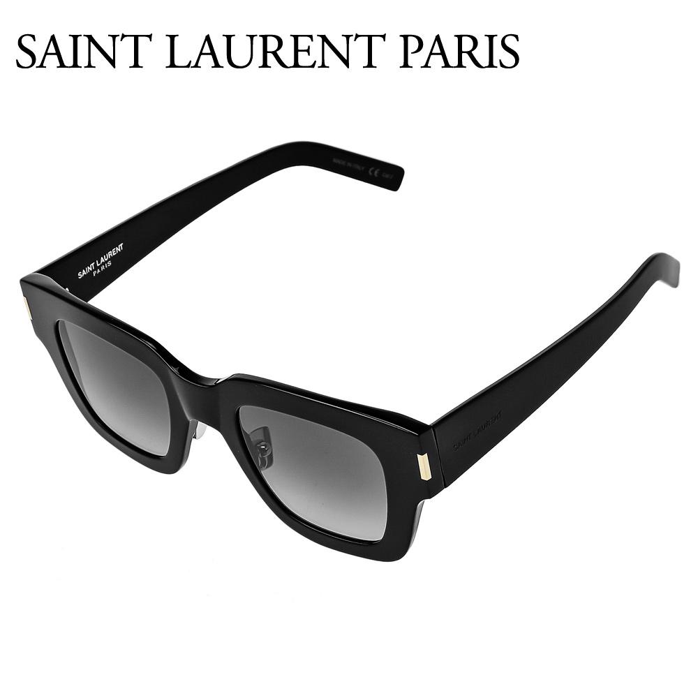 サンローランパリ ユニセック スサングラス 【ASIAN FIT】 SL 184/F SLIM ブラック(001 BLACK) SAINT LAURENT PARIS 【zkk】【gdm】