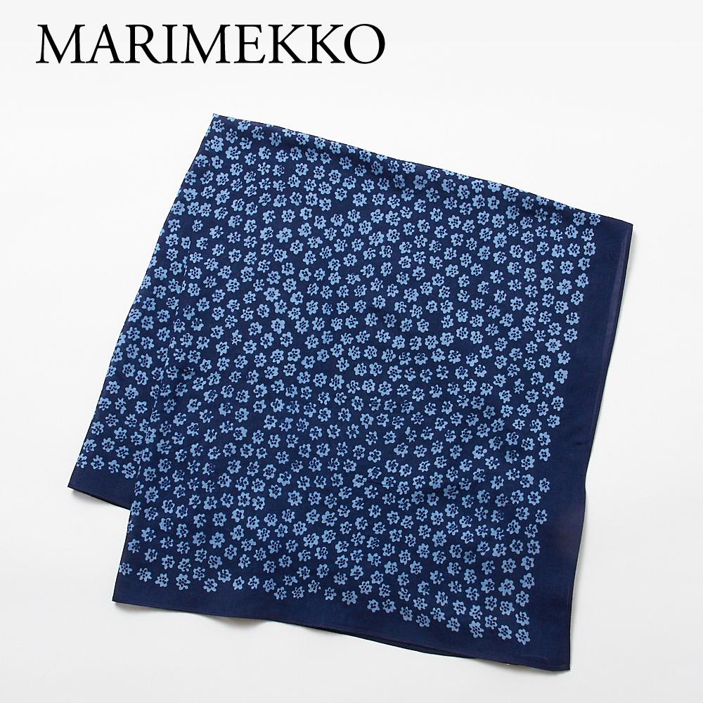 マリメッコ スカーフ GAVINA PUKETTIMERI ガヴィナブケッティメリ 48383 550 DARK BLUE/LIGHT BLUE MARIMEKKO